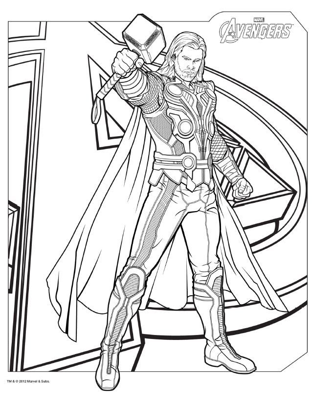 avengers coloring pages a400 - photo#9