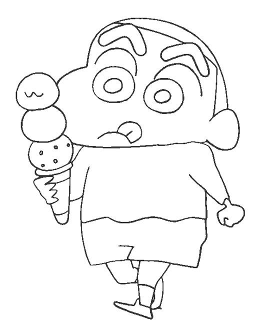 shin chan coloring page coloring home