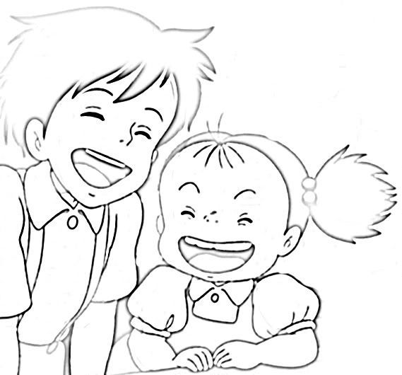 Ponyo Coloring Pages Sketch Coloring