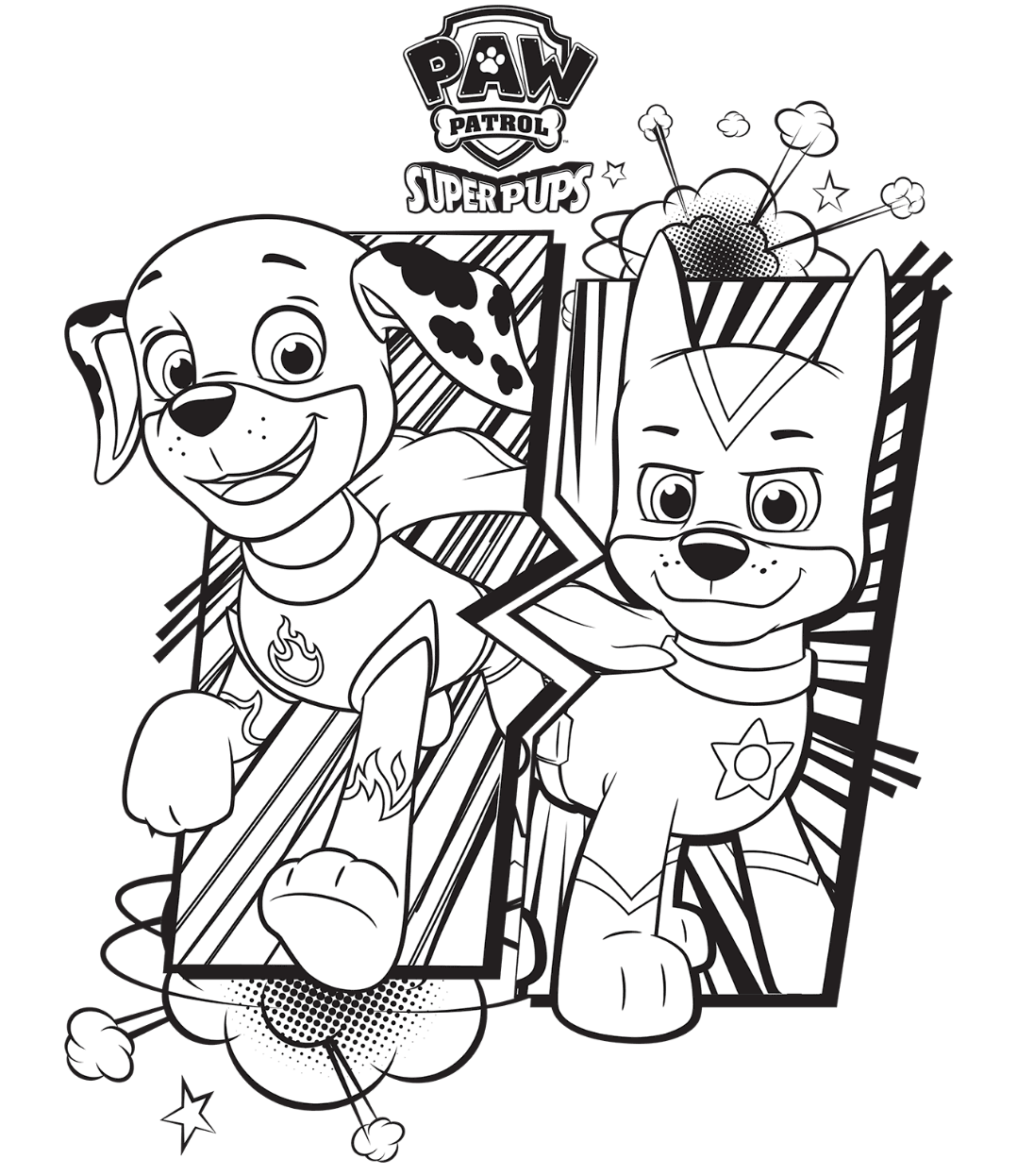 PAWs Colouring Page
