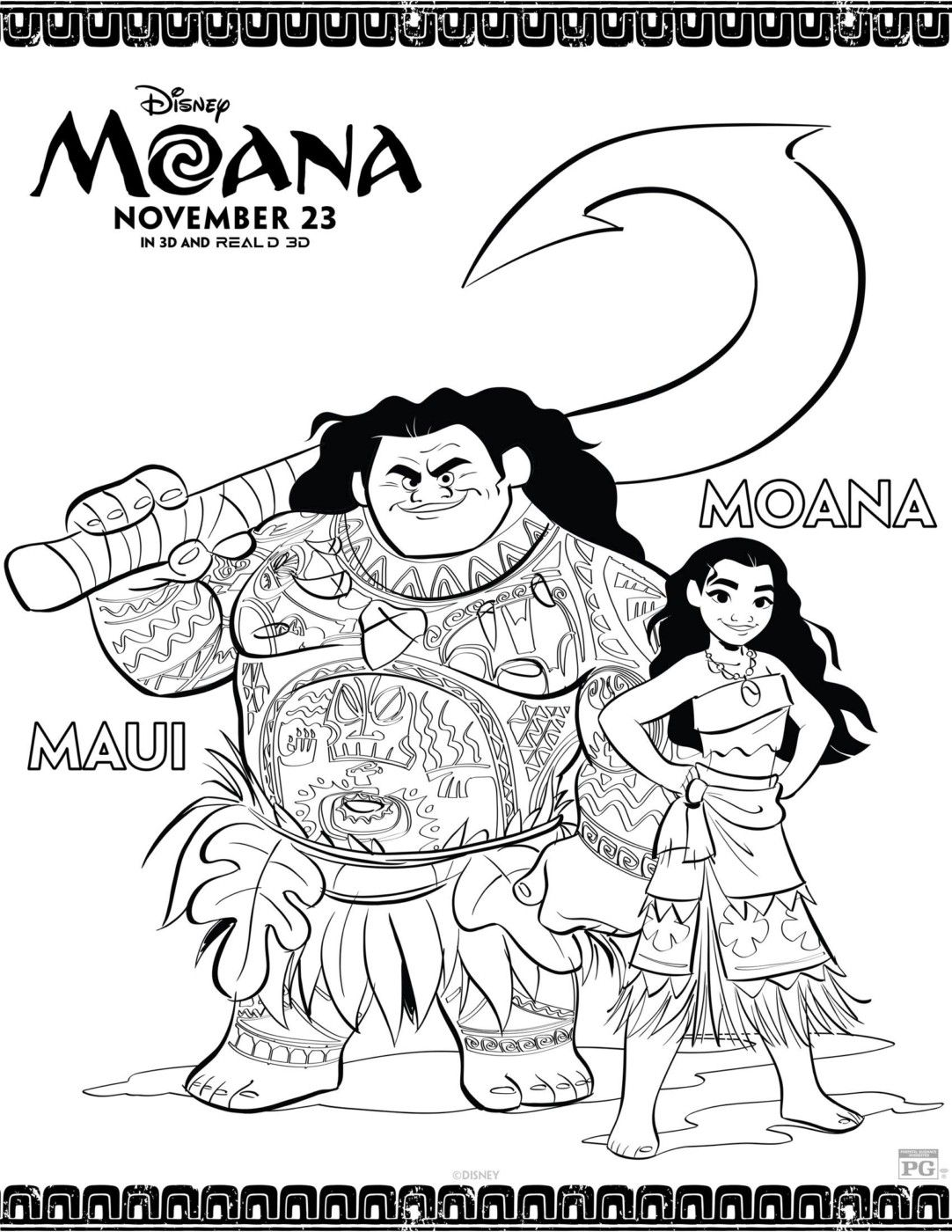 Free coloring pages, Moana coloring pages, Moana Printables
