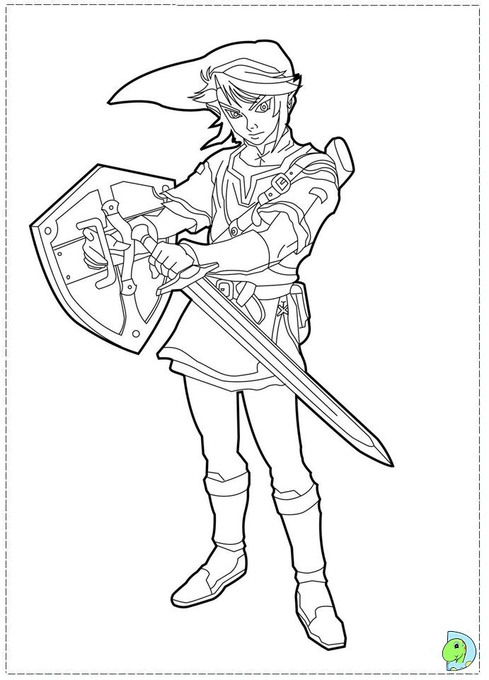 legend of zelda printable coloring pages the legend of zelda
