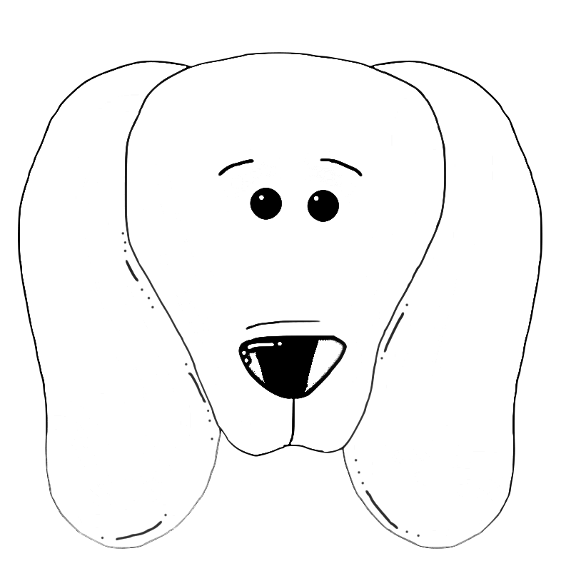 Dog Face Coloring Pages Cute Dog Face Coloring Page Dog Coloring