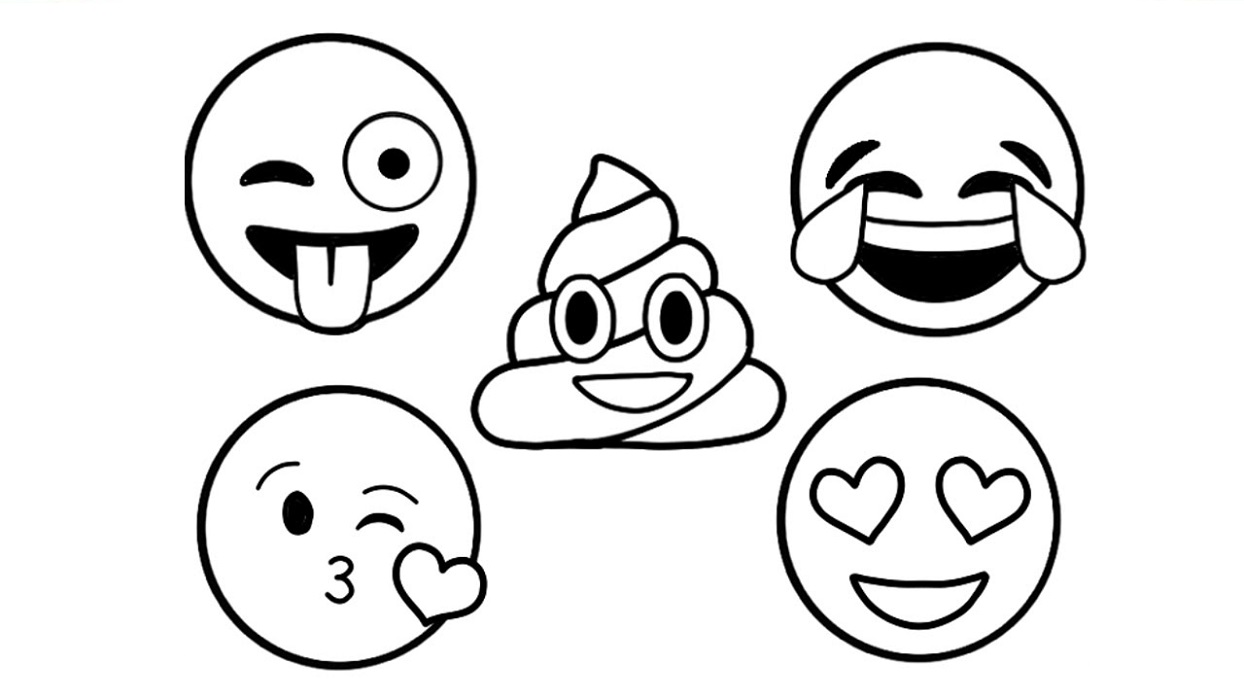 Poop Emoji Coloring Pages | Printable Shelter