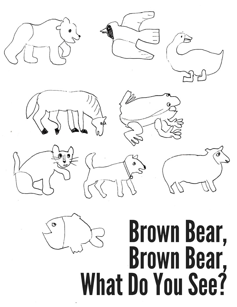 brown bear carle coloring pages - photo#12