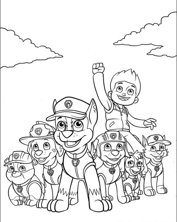 Paw Patrol Coloring Pages Getcoloringpages Com Home