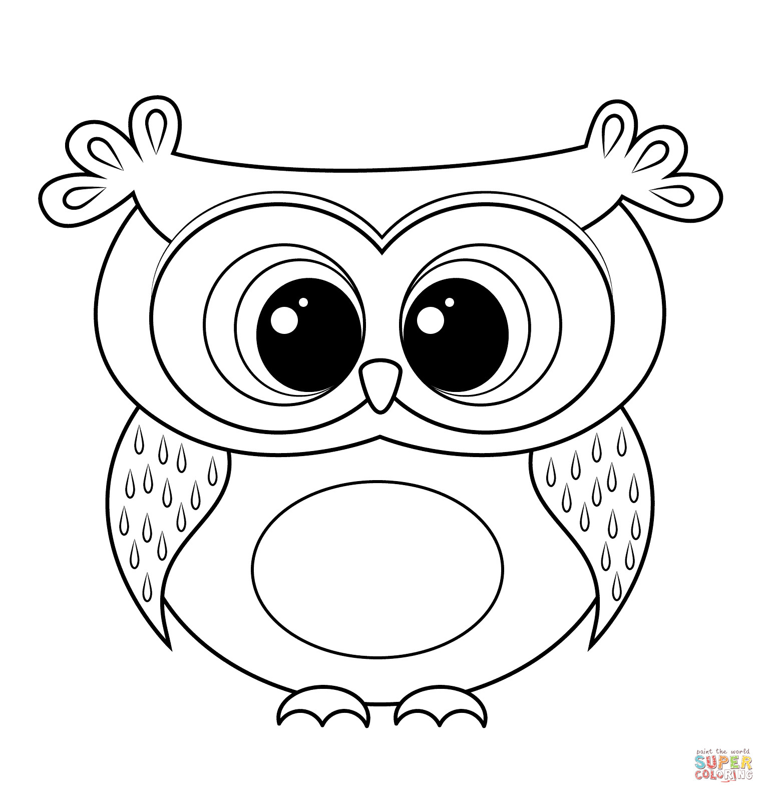 Coloring Pages Cute Owl Coloring Pages Amazingintable For Coloring Home