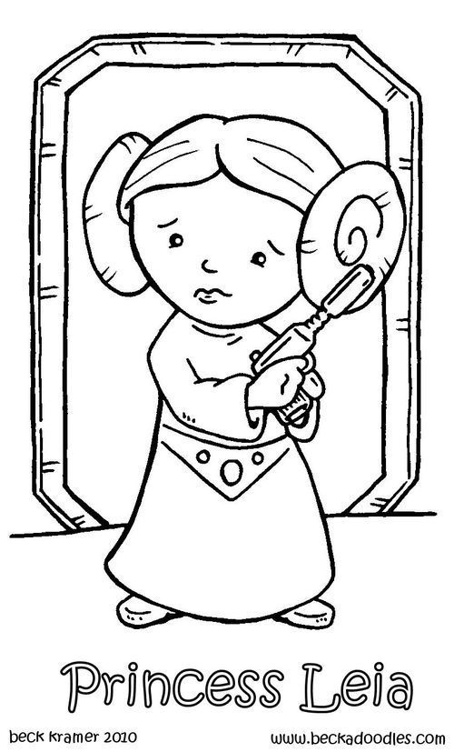 Princess Leia Coloring Page | Free Coloring Pages On ...