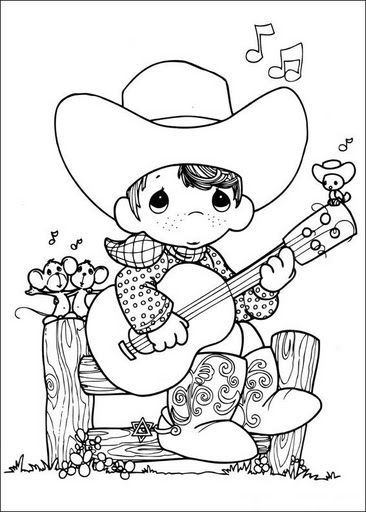 Cowboy And Cowgirl - Coloring Pages for Kids and for Adults