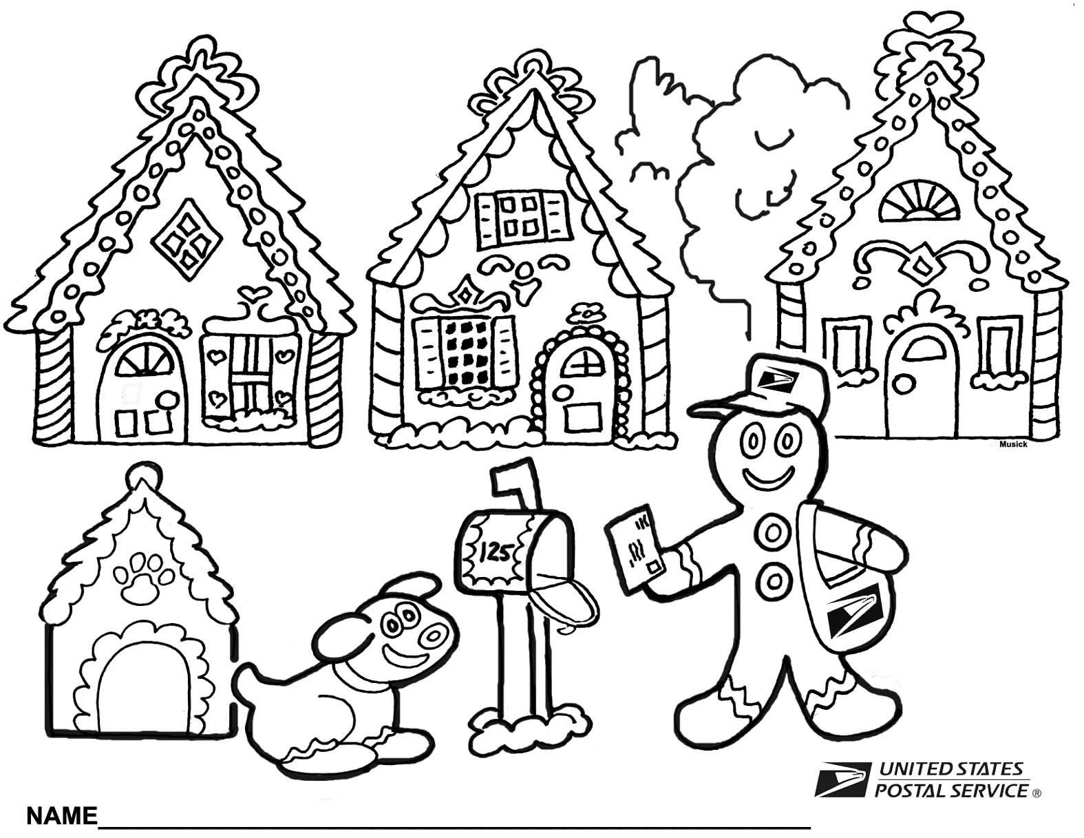 2013 Christmas Coloring Page | Your Postal Blog
