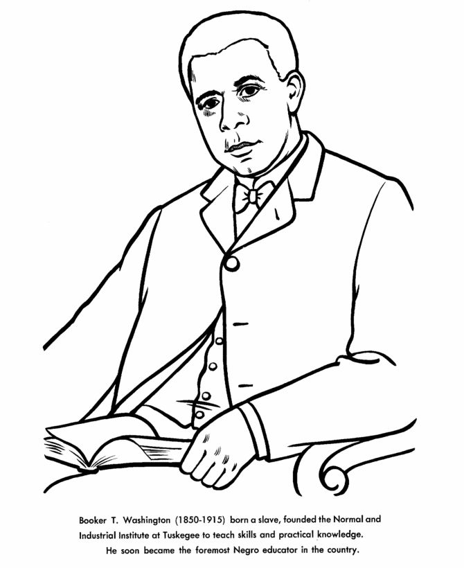 Famous African Americans Coloring Pages