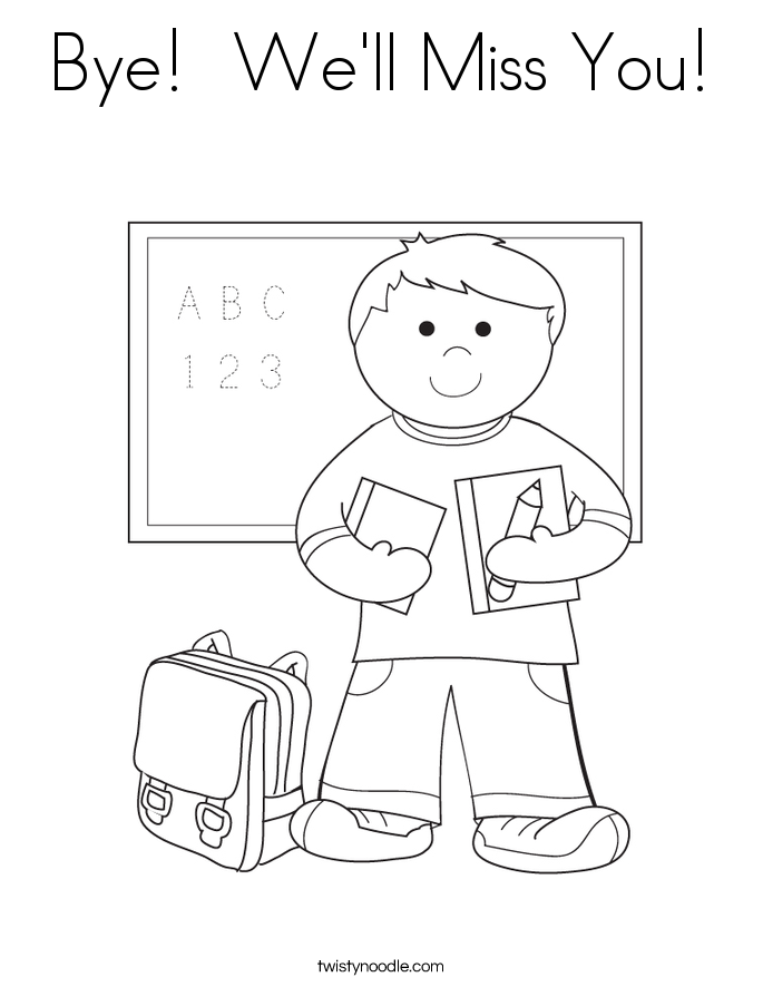 We Will Miss You Coloring Pages Coloring Home I Miss You Coloring Pages