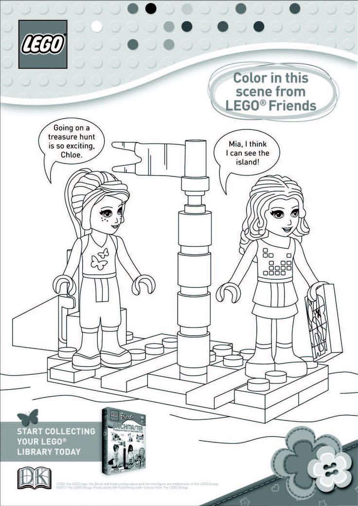 Lego Friends Coloring Pages - Coloring Home