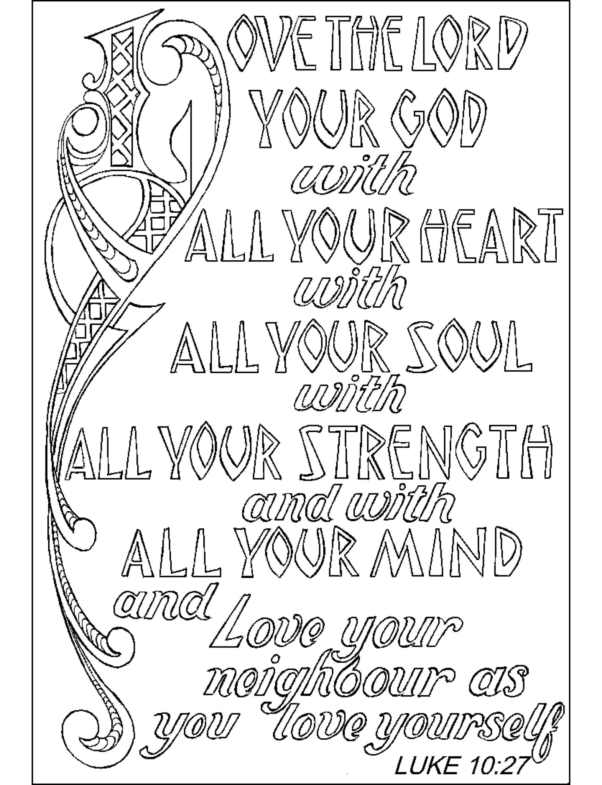 Bible Quote Coloring Pages Coloring Home