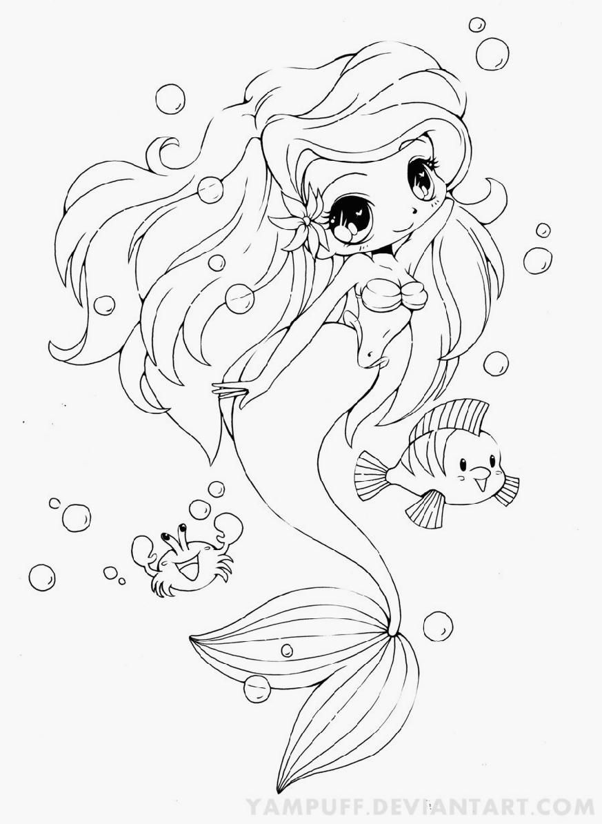 Baby Mermaid Coloring Pages Coloring Home