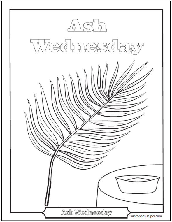 Ash Wednesday Coloring Page Coloring Home Ash Wednesday Coloring Page