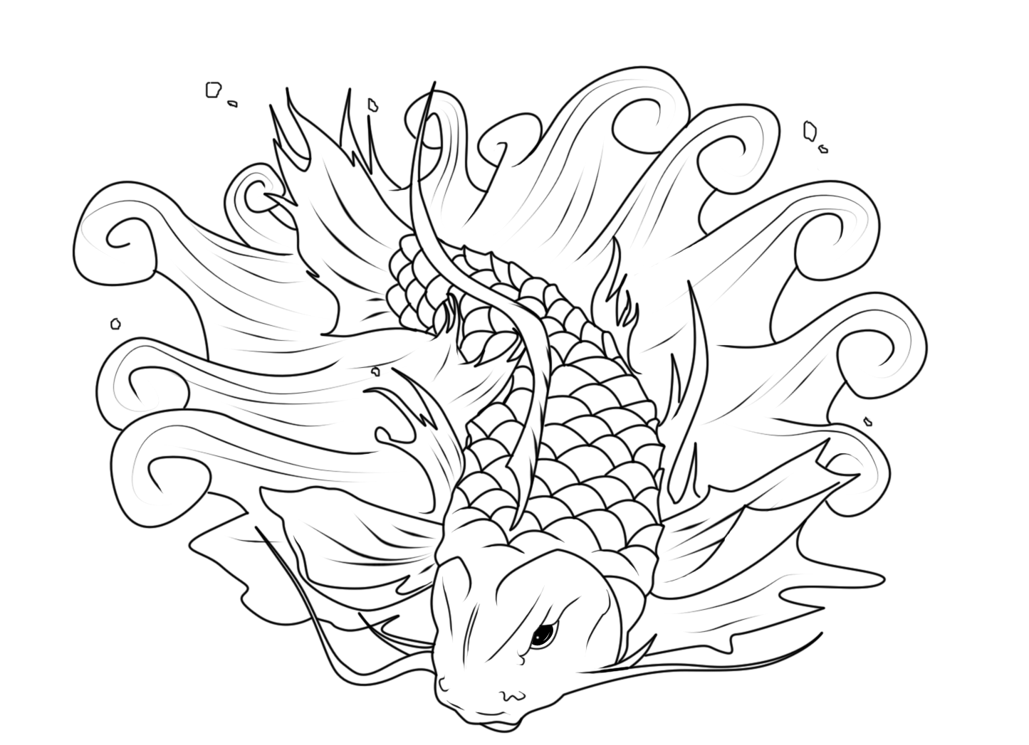 japanese fish coloring pages - photo#3