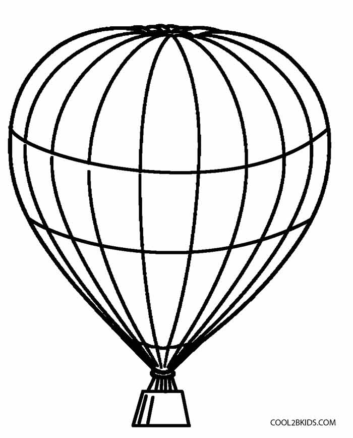 Balloon Coloring Pages Printable