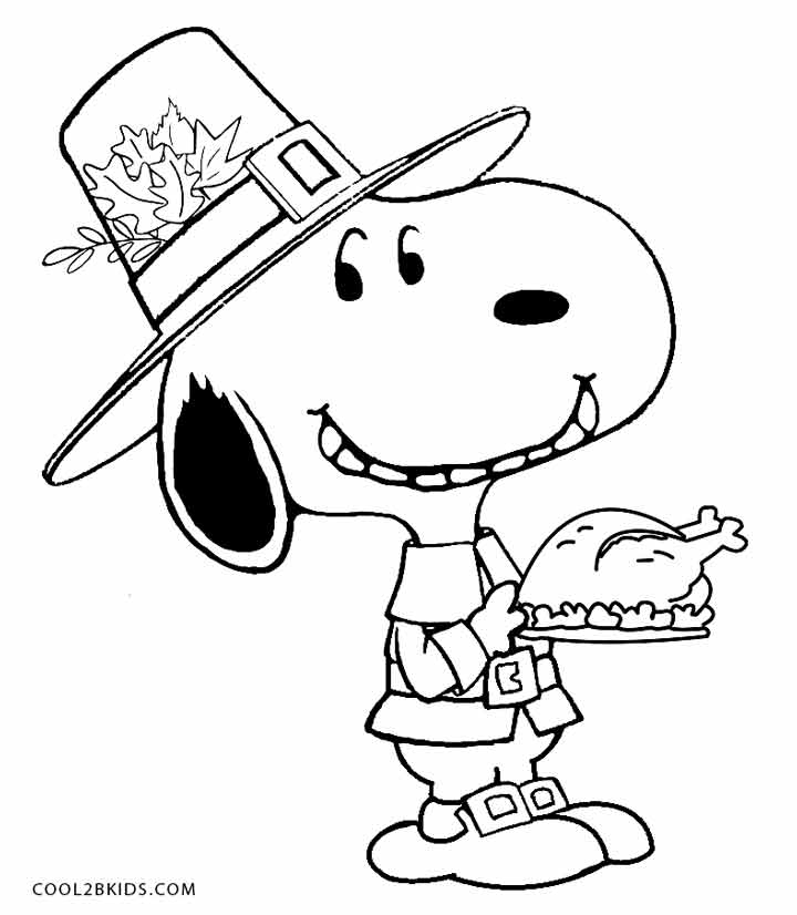 coloring pages of cartoon snoopy - photo#27