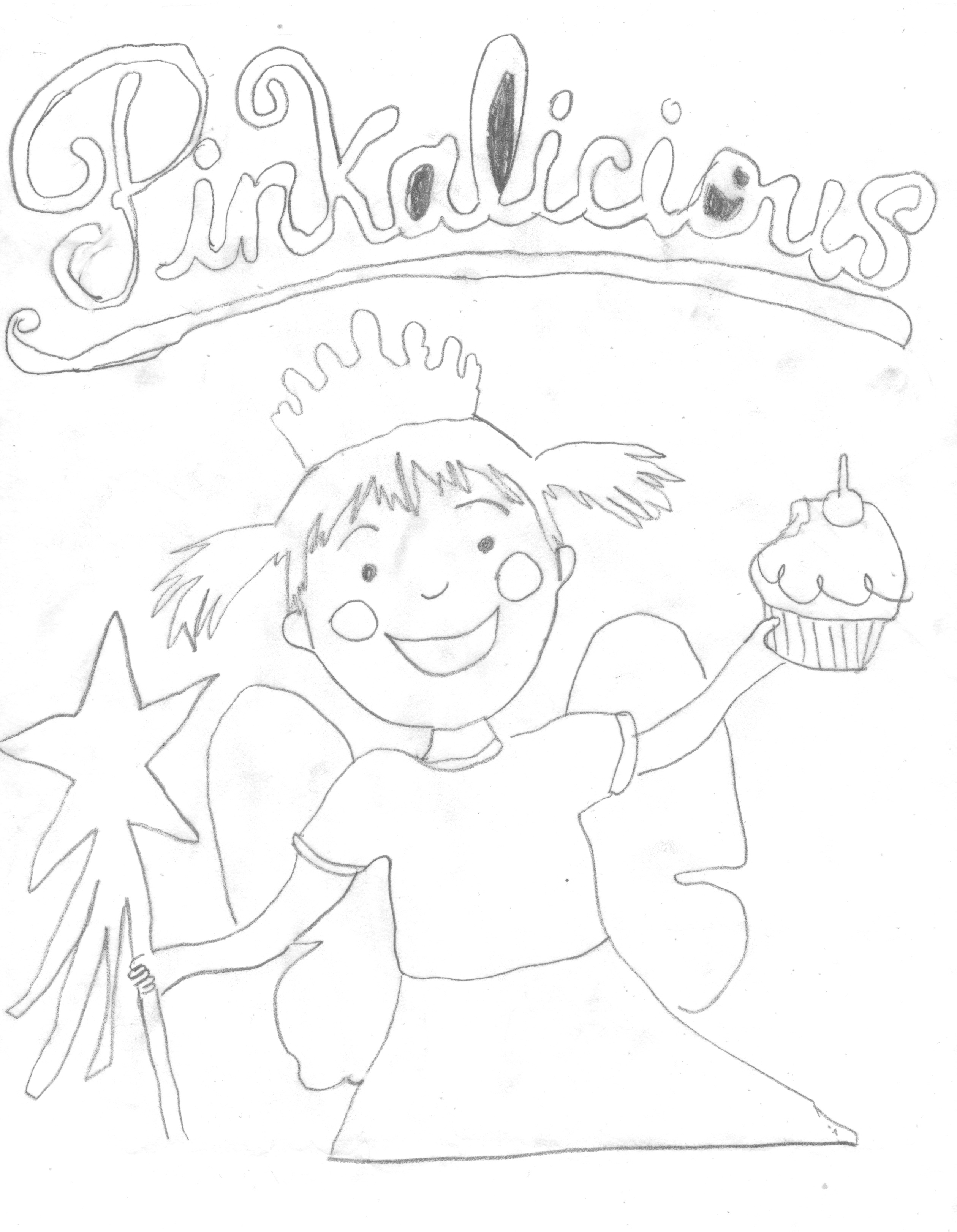 free pinkalicious coloring pages | Beach Coloring Pages