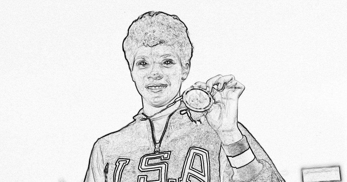 Wilma Rudolph Coloring Pages
