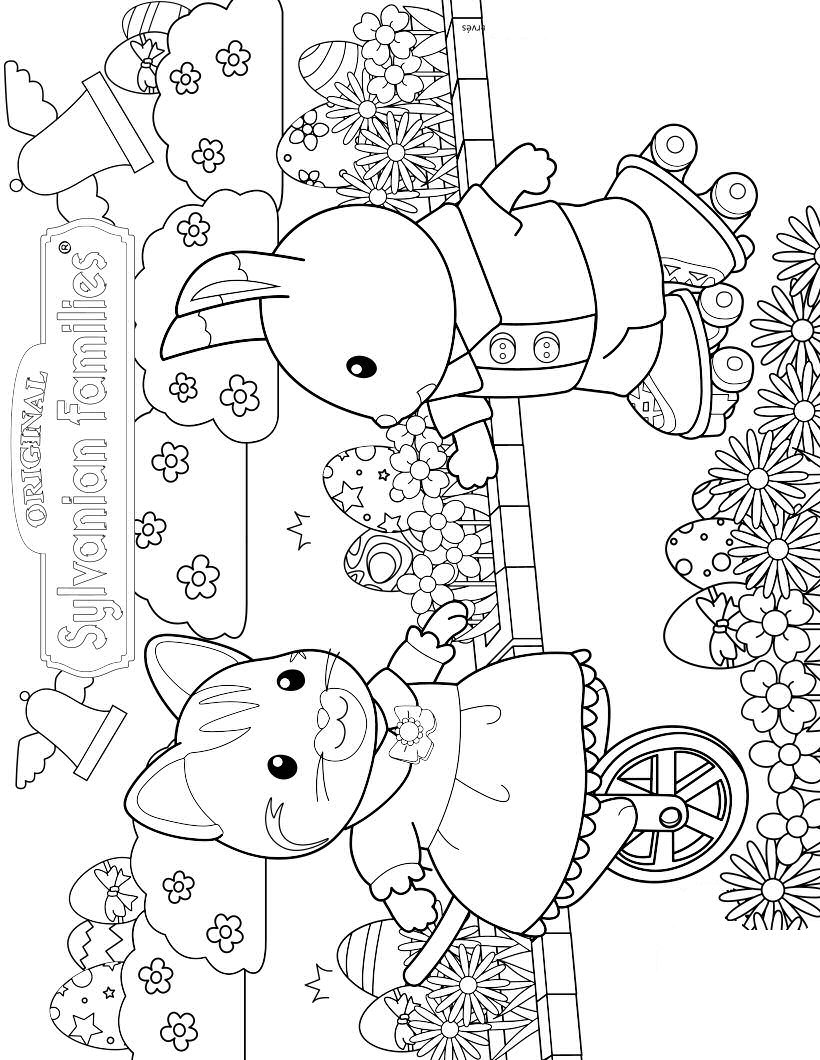 - Calico Critters Coloring Page - Coloring Home