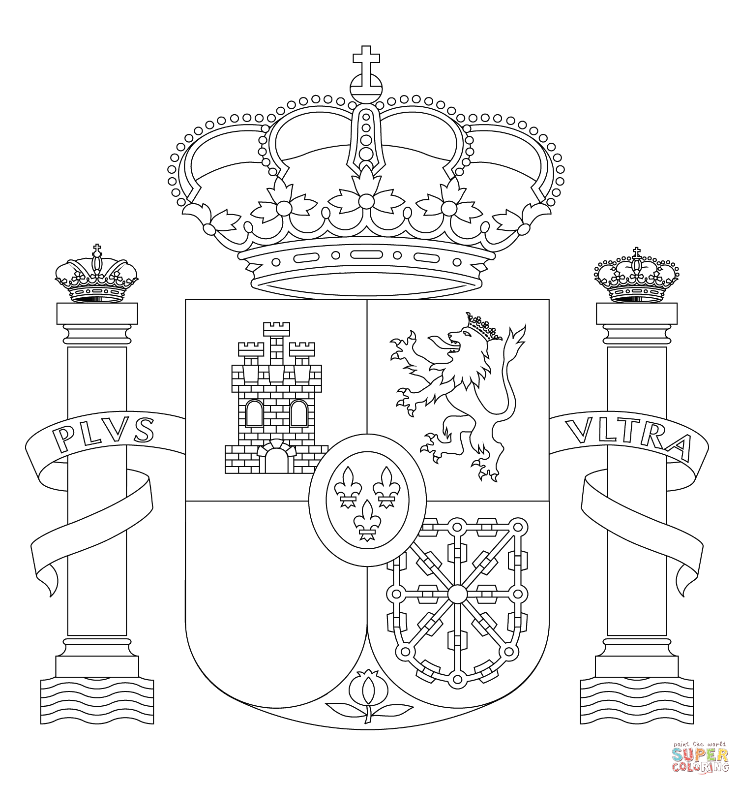 Kids Coloring Page For Spain - Coloring Home