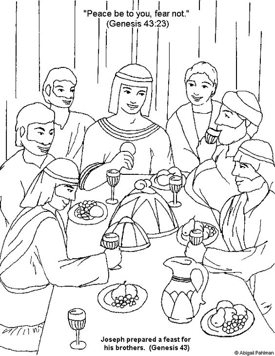joseph and his brothers coloring page joseph forgives his brothers coloring page coloring home