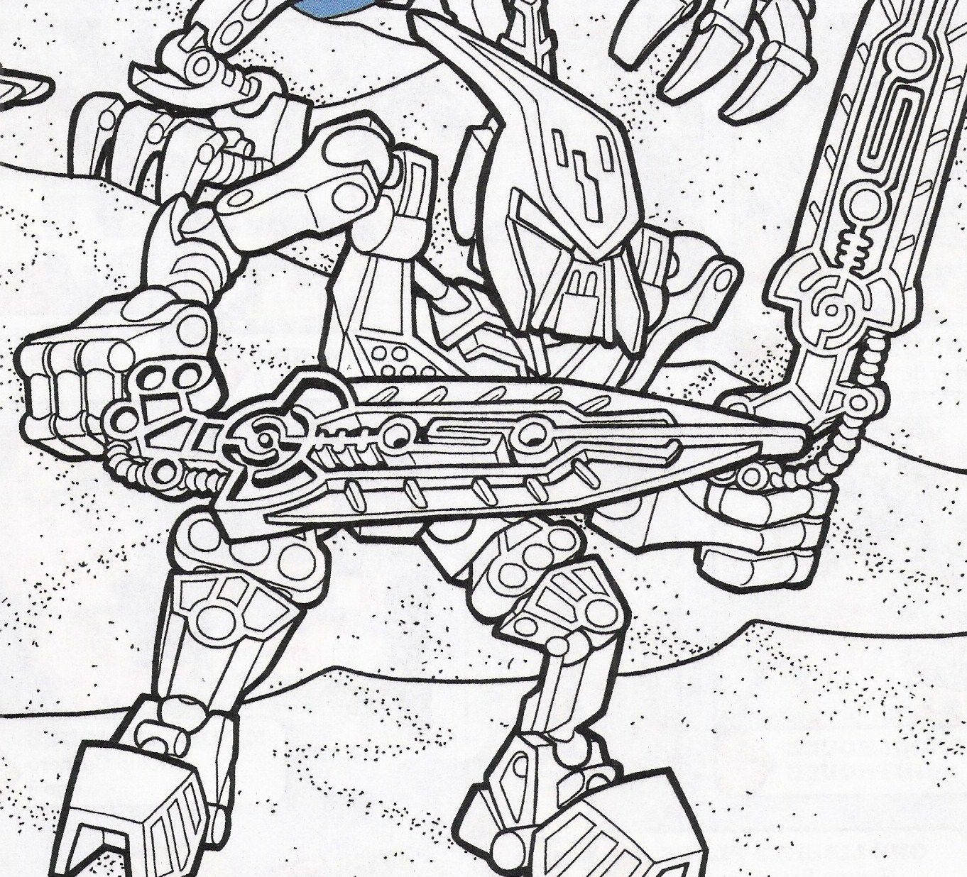 hero factory coloring page
