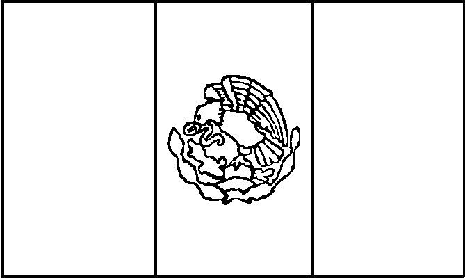 Mexico Flag Coloring Page Coloring Home