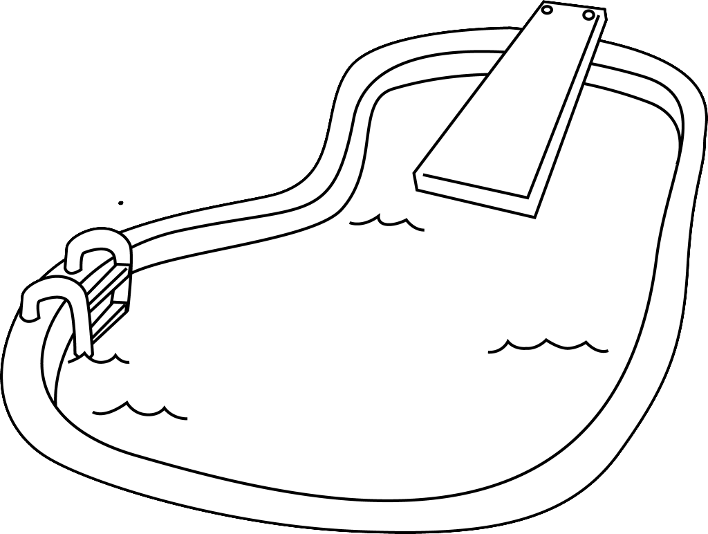 coloring pages swimming pool - photo#1
