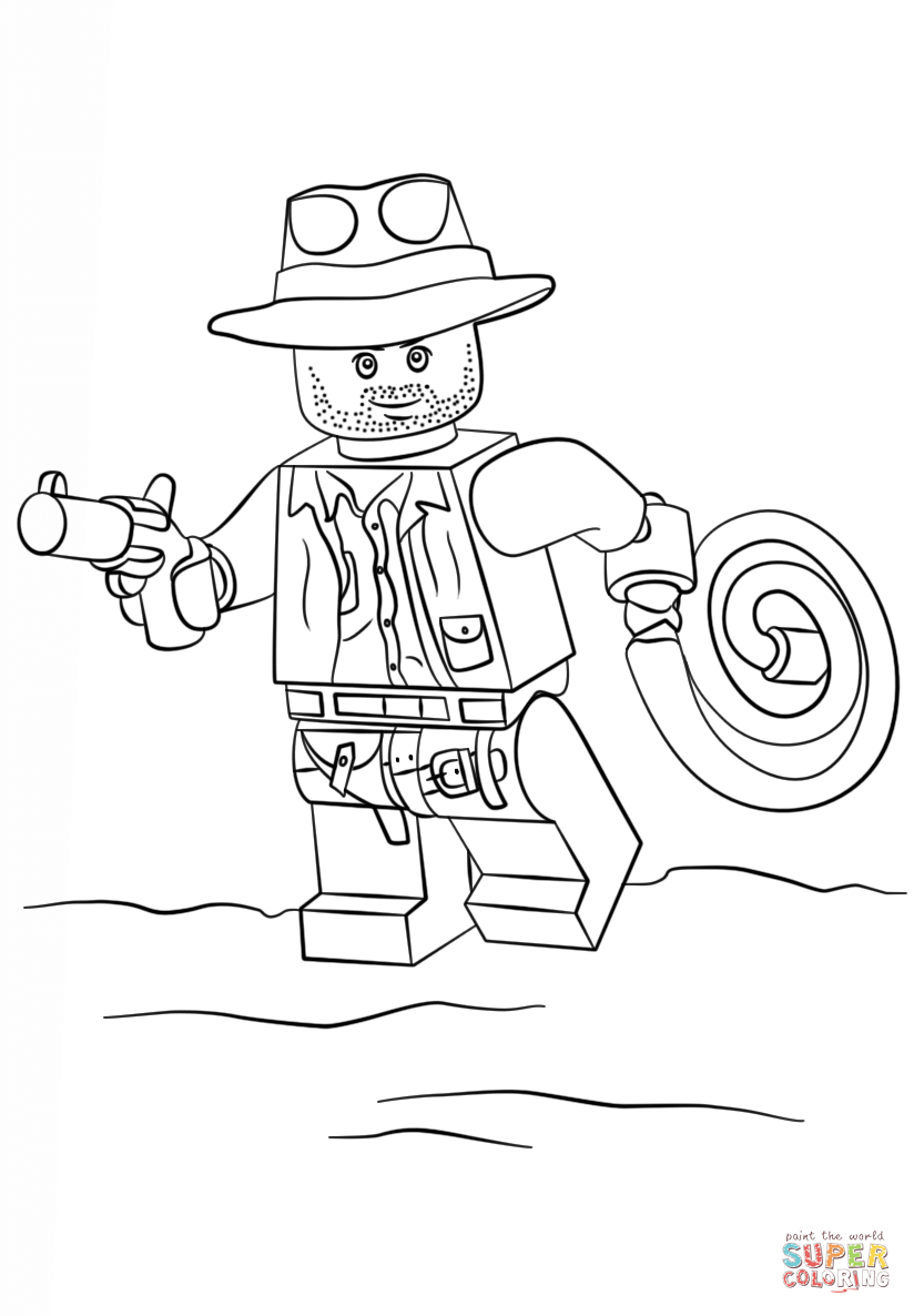 lego indiana jones coloring page free printable coloring pages