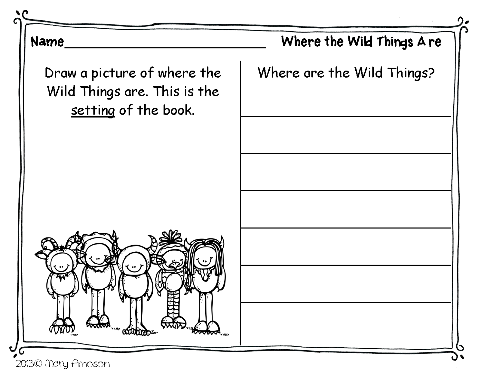 Where The Wild Things Are Printable Coloring Pages