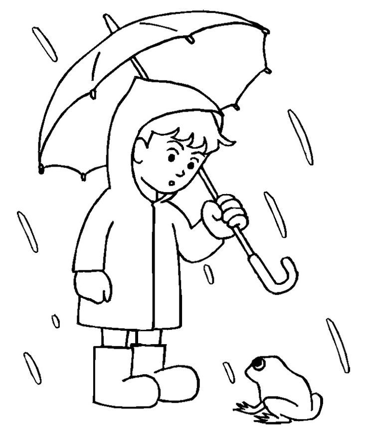 Printable Rain Coloring Pages Home