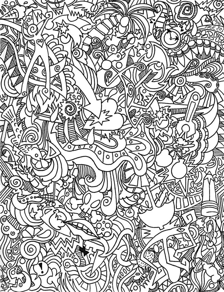 Trippy coloring pages to print coloring home for Printable psychedelic coloring pages