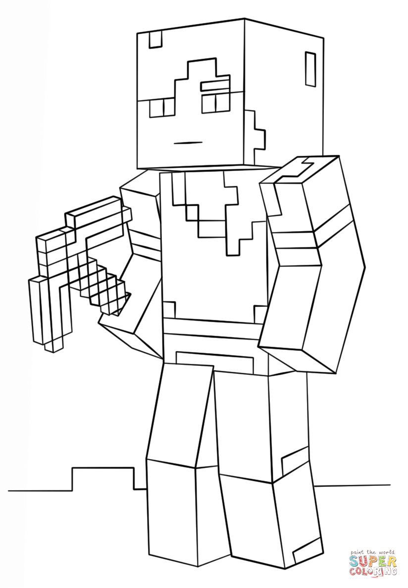 Minecraft Coloring Pages Stampy - Coloring Home