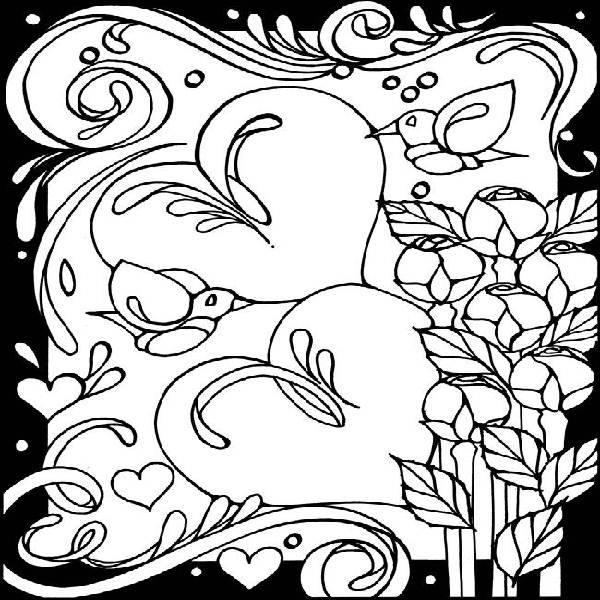 Stained Glass For Kids - Coloring Pages for Kids and for Adults