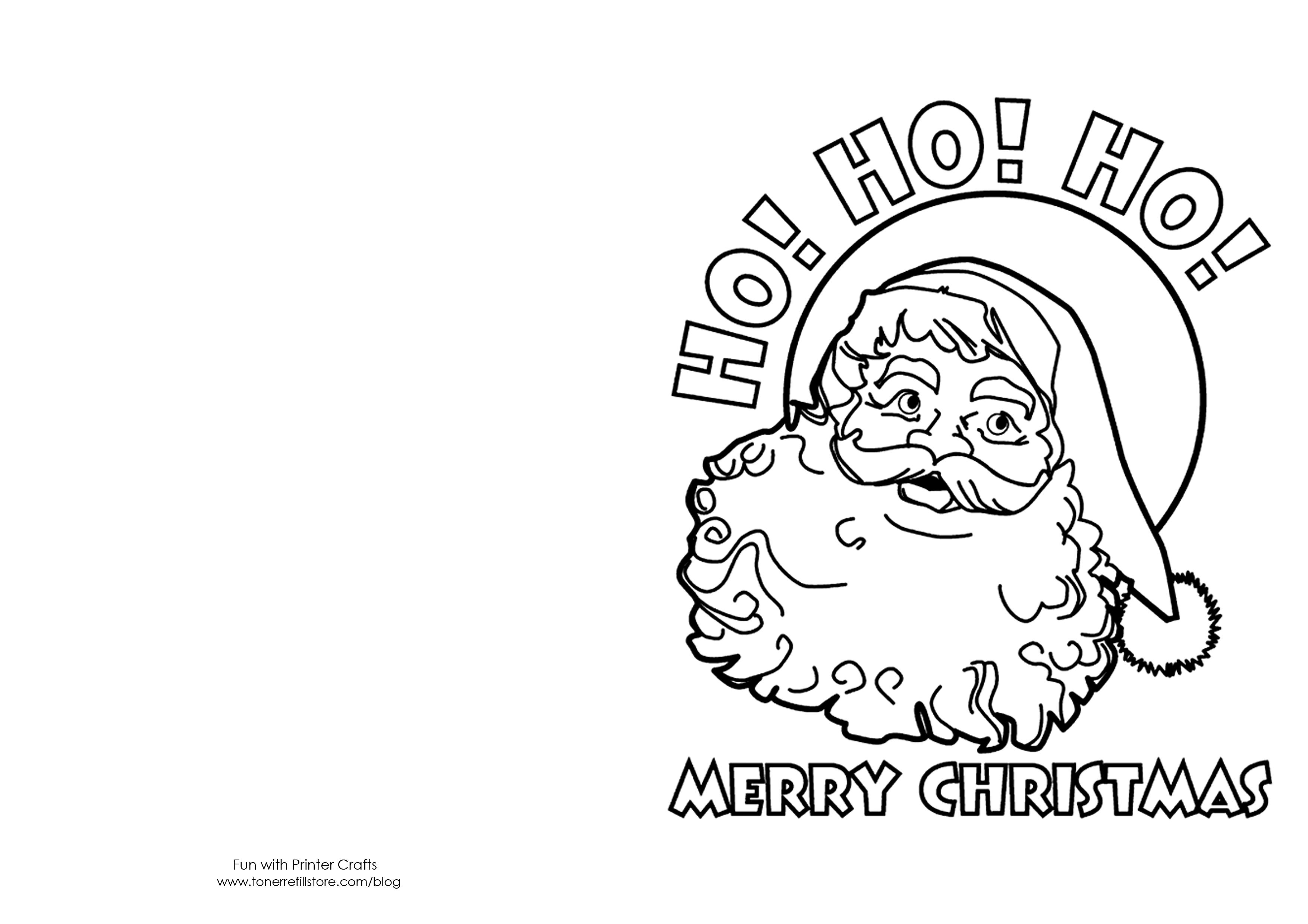 Printable Christmas Card Templates To Color Wedding Invitations Coloring Home