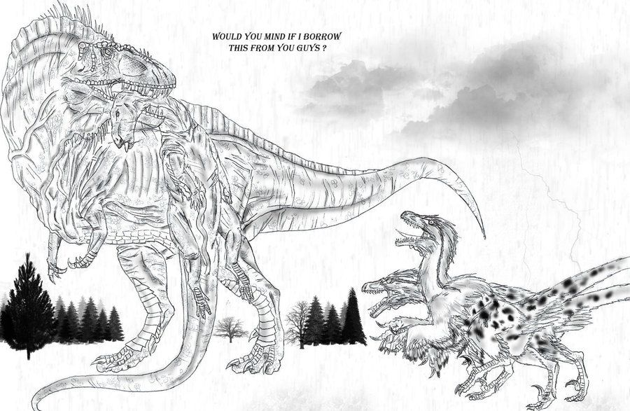 dinosaurus utah raptor coloring pages - photo#23