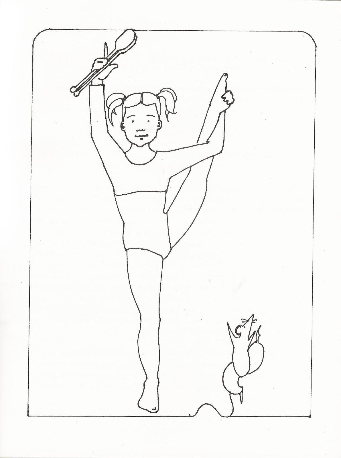 Printable gymnastics coloring pages coloring home for Gymnastic coloring pages