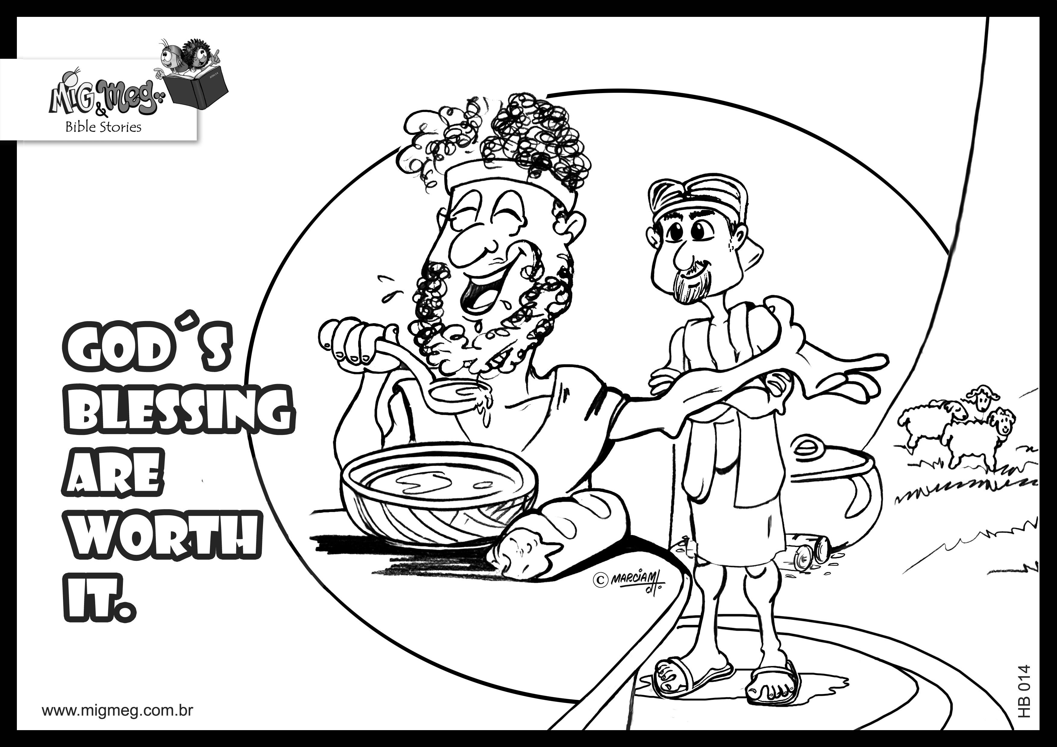 Free coloring pages jacob and esau coloring home for Jacob and esau reunite coloring page