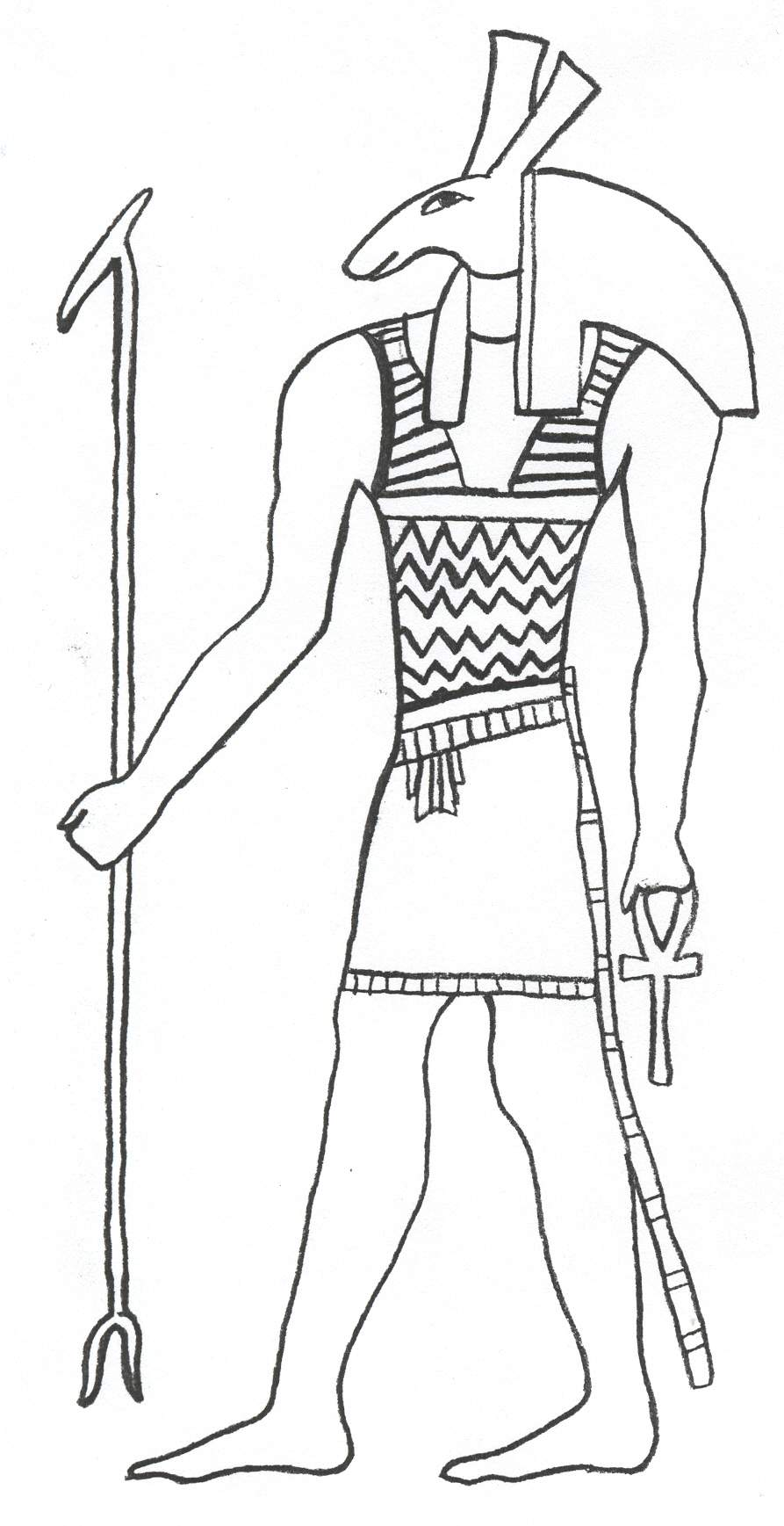 GODS AND GODDESSES of Ancient Egypt coloring pages - Coloring ... | 1737x893