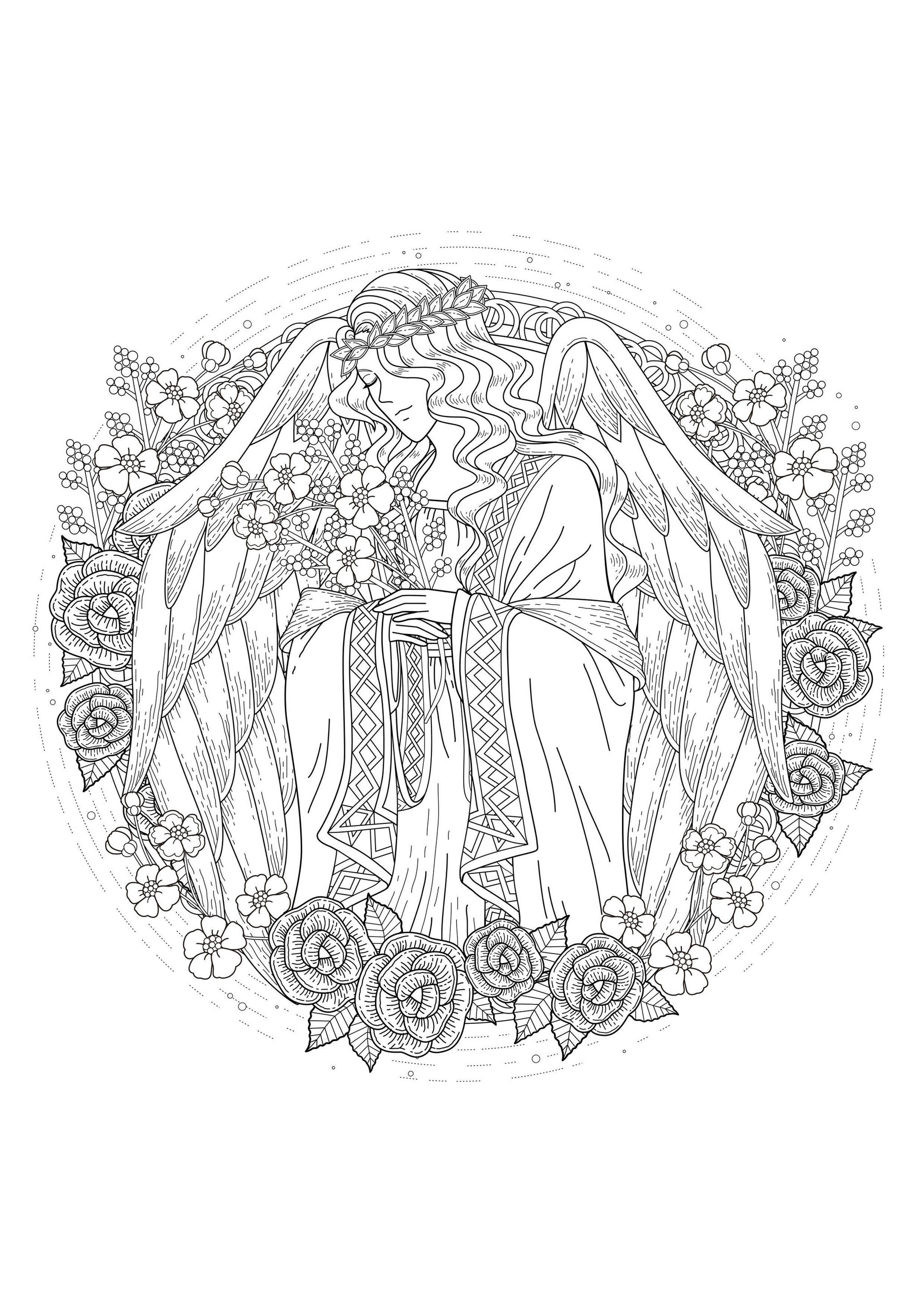 Myths & legends - Coloring Pages for adults : coloring-page-adults ...