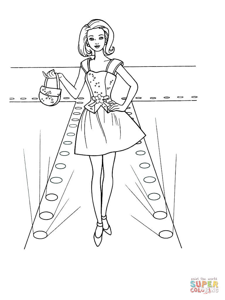 Printable Coloring Pages OF FASHION CLOTHING - Coloring Home