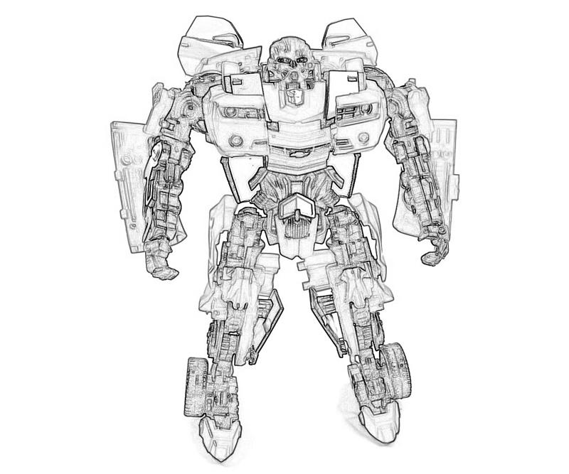 transformers fighting coloring pages - photo#23