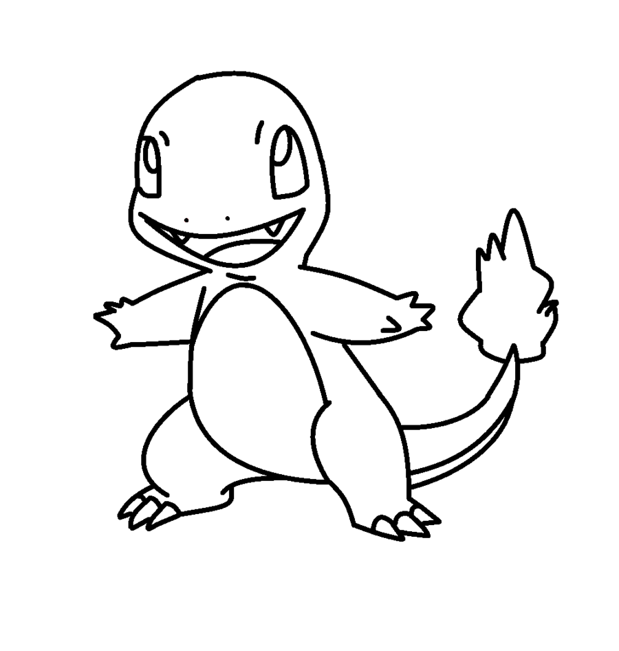 pokemon coloring pages charmander - charmander coloring page az coloring pages