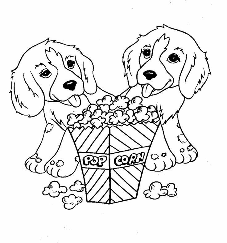 popcorn printable coloring pages - photo#19