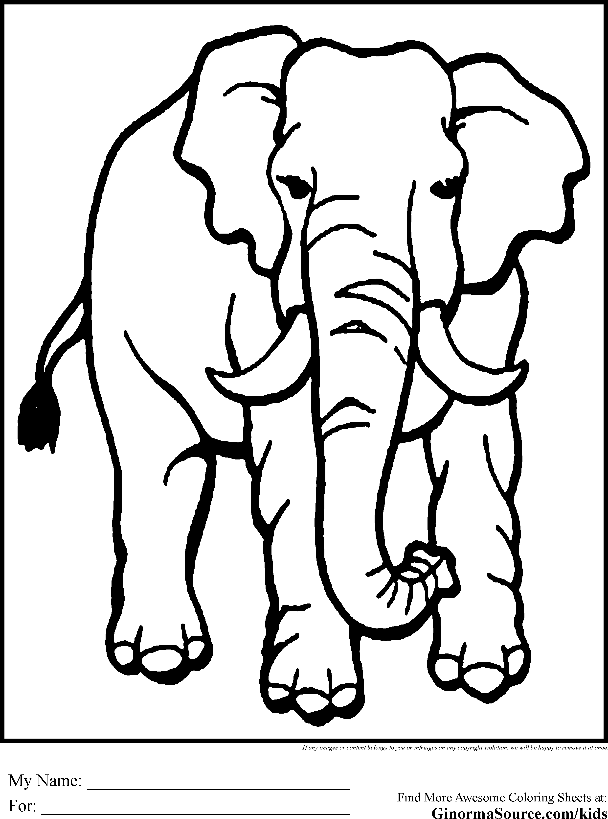 coloring pages for african animals - photo#23