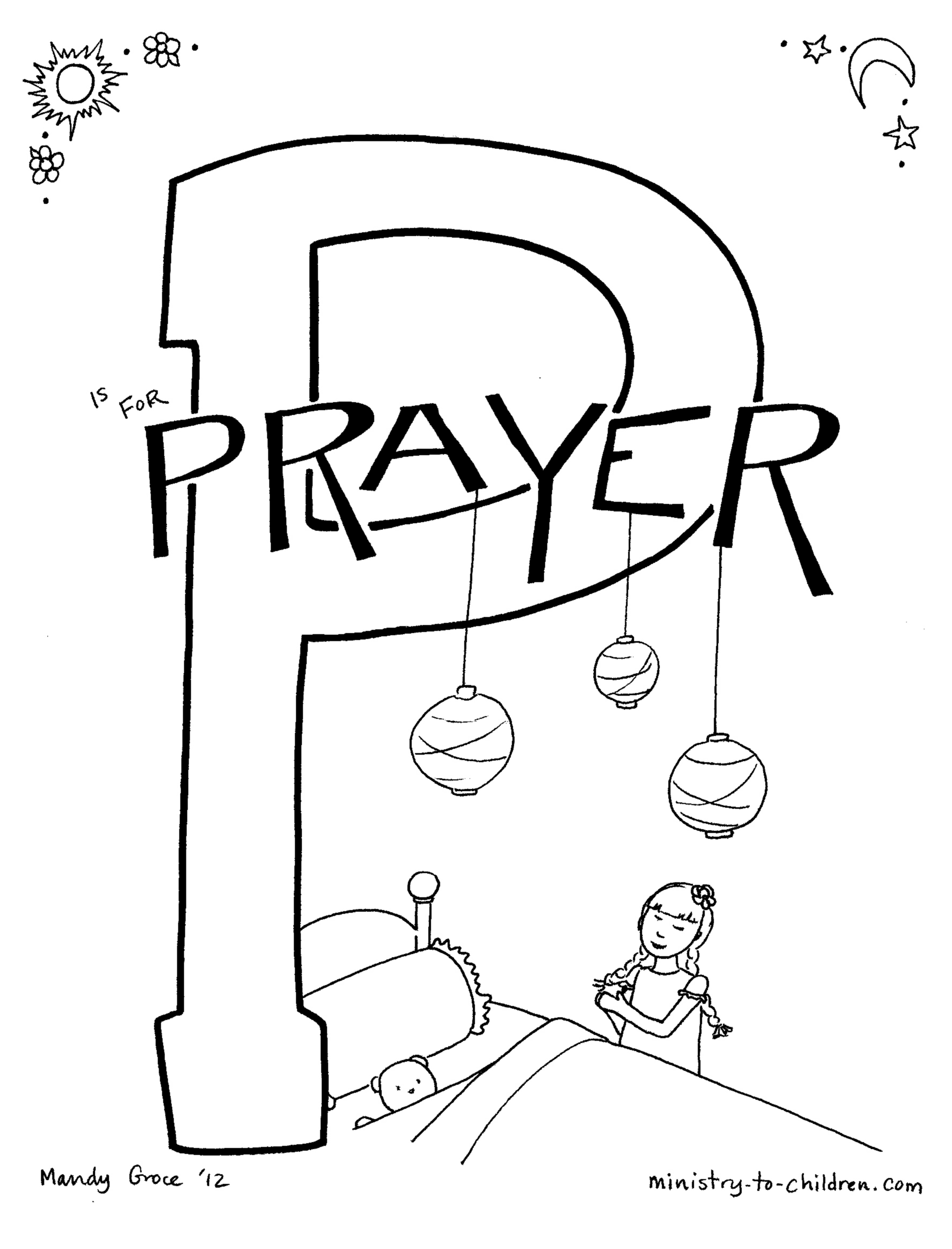 coloring pages the lords prayer - photo#28