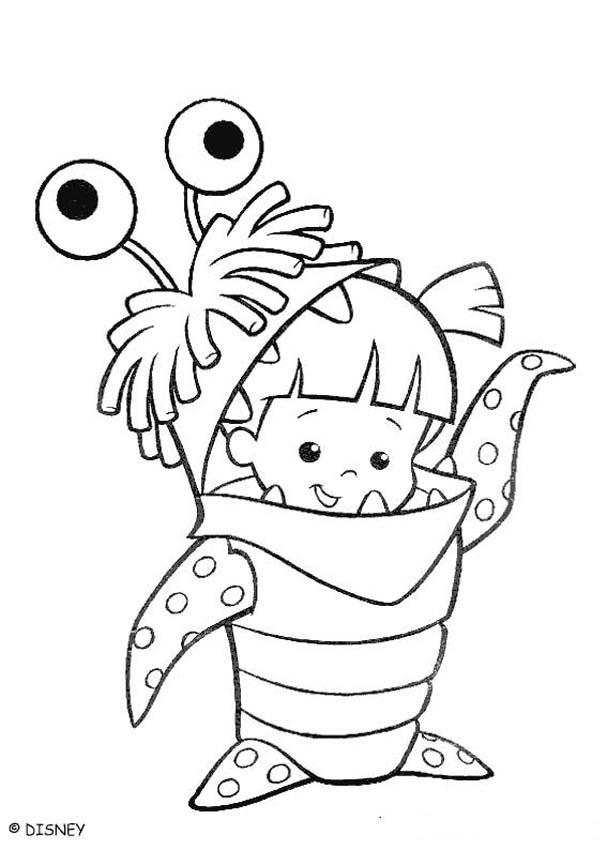 Monsters Inc Coloring Pages Boo Coloring Home